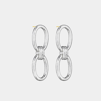 Double Link Drop Earrings