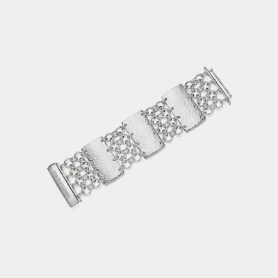 Infinity Link Bracelet With Fold-Over Clasp