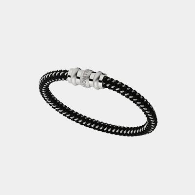 Mont Blanc Sterling Cord Man's Bracelet