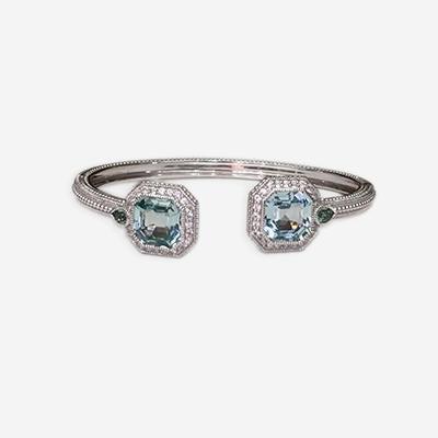 Sterling Silver Judith Ripka Bangle Bracelet