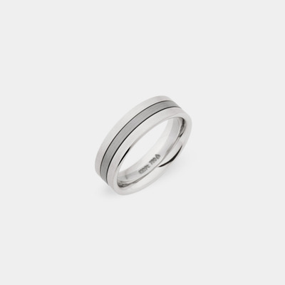 14kt Satin and plain polished Wedding Ring