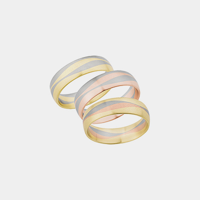 14kt Gold Wave Satin Wedding Ring