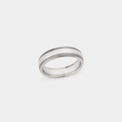 18kt Double Stripe Wedding Ring