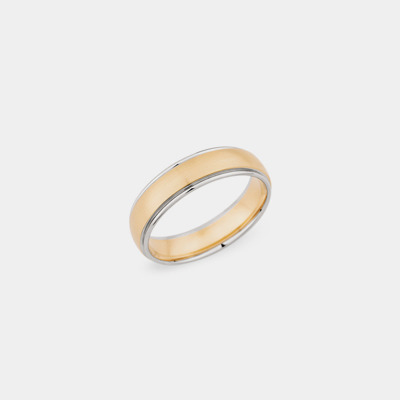18kt Satin Stripe Wedding Ring