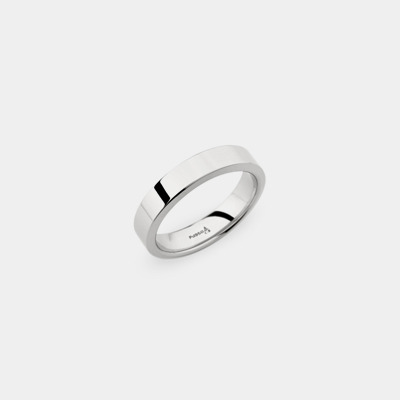 Palladium Squared Edge Wedding Ring