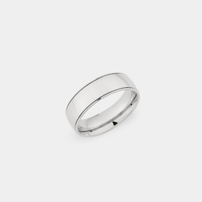 Palladium Plain Polished Wedding Ring