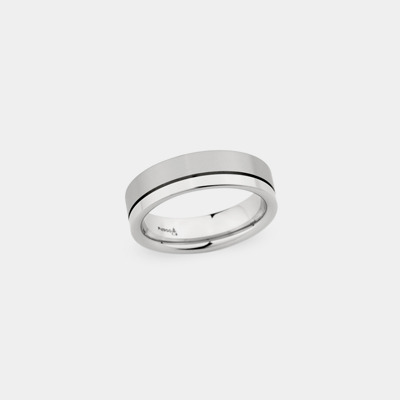 18kt Satin And Polished Wedding Ring