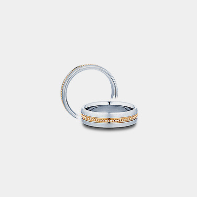 14k Beaded Wedding Ring
