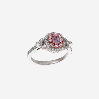 Rare Baby Pink Diamond Engagement Ring