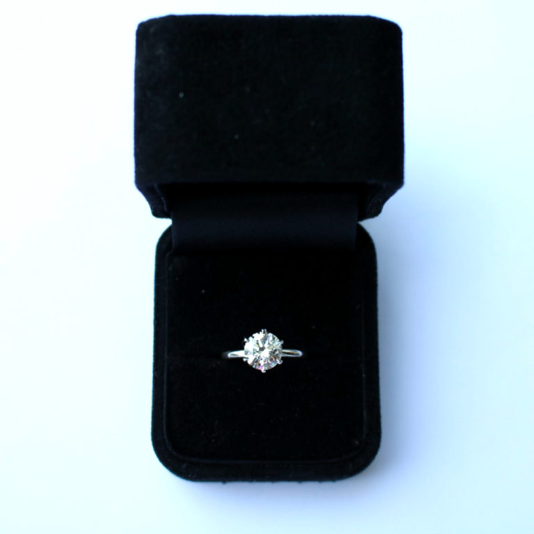 E.B. Horn Solitaire Engagement Ring