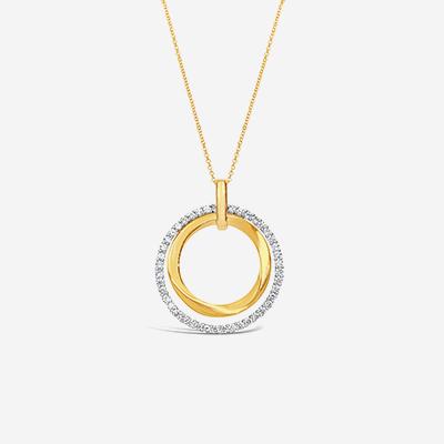 14kt open circle pendant