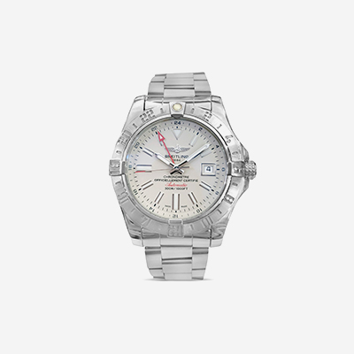 Avenger II GMT silver dial watch