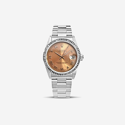 Rolex mid-size Datejust pink dial