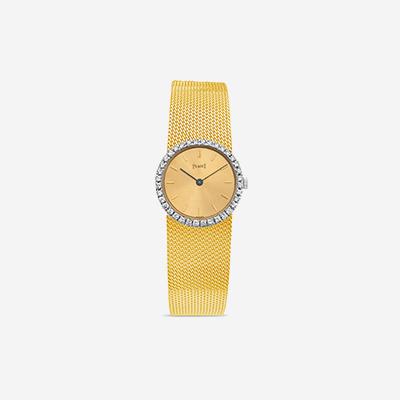 18kt Piaget diamond bezel watch