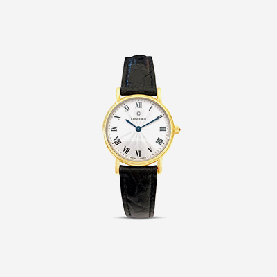 18kt Bennington white roman dial