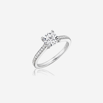 14kt classic diamond engagement ring