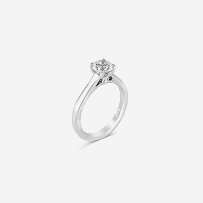 14kt classic solitaire diamond engagement ring