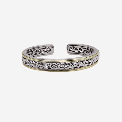 Sterling silver 18kt cuff bracelet
