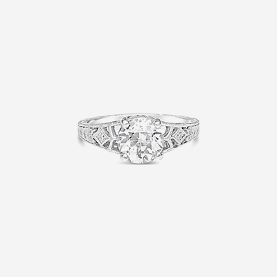 18kt diamond antique ring