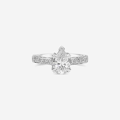 18kt diamond engagement ring