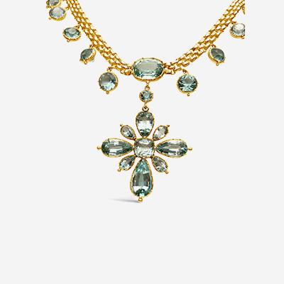 14kt flower pendant