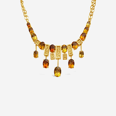 18kt citrine necklace