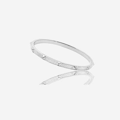 Sterling silver spike bangle