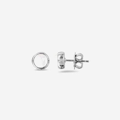 Sterling silver mother of pearl stud earrings