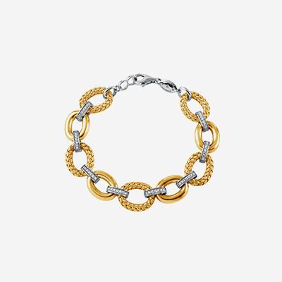 Sterling silver bar link bracelet