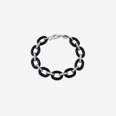 Sterling silver and black onyx bracelet