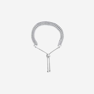 Sterling silver two row bolo bracelet