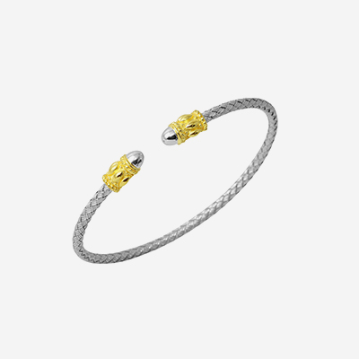 Sterling silver woven bangle