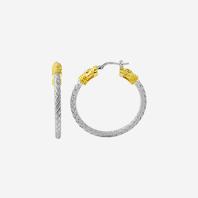 Two tone woven hoops