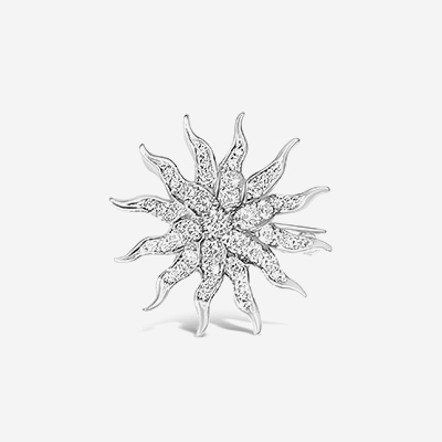 14kt Antique Starburst Pin