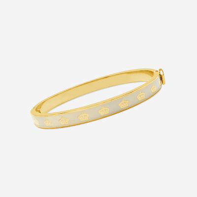 Cream and gold Halcyon bracelet