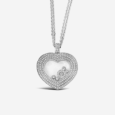 18kt Chopard Happy Diamonds Heart Pendant