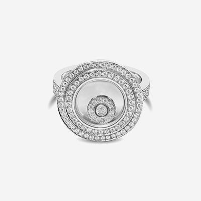 18kt Chopard Happy Sport Round Diamond Ring