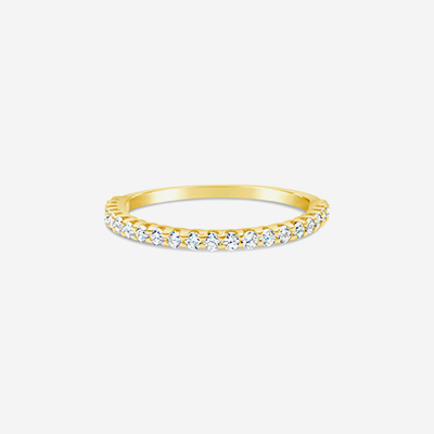 14kt diamond halfway wedding band