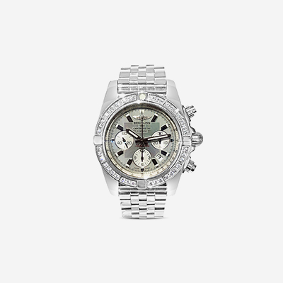 Breitling Chronomat 44 watch with diamonds