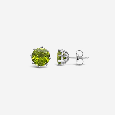 14kt peridot stud earrings