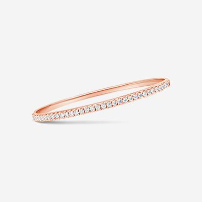 18kt diamond hinged bangle bracelet