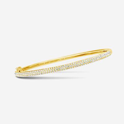 14kt pave diamond bracelet