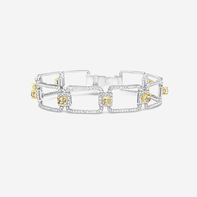 18kt nine section diamond bracelet
