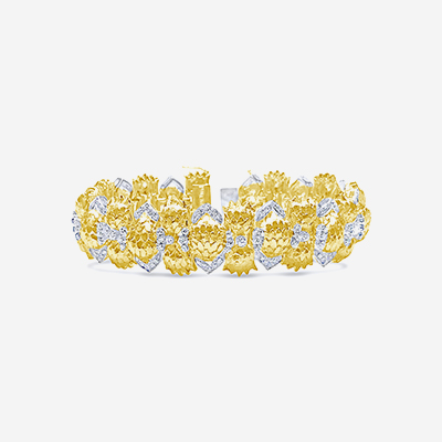 18kt diamond flex bracelet