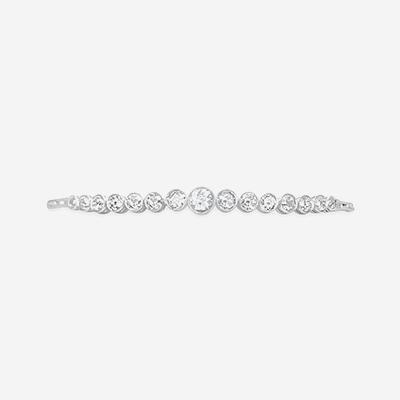 14kt diamond bezel bracelet