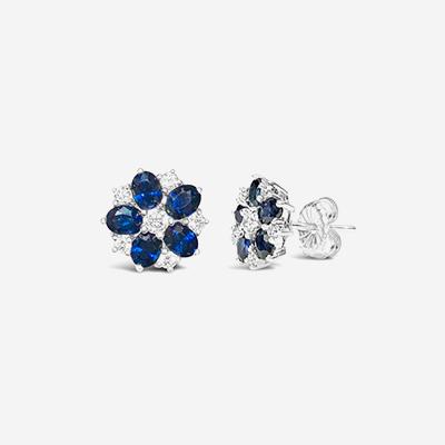 18kt sapphire and diamond stud earrings