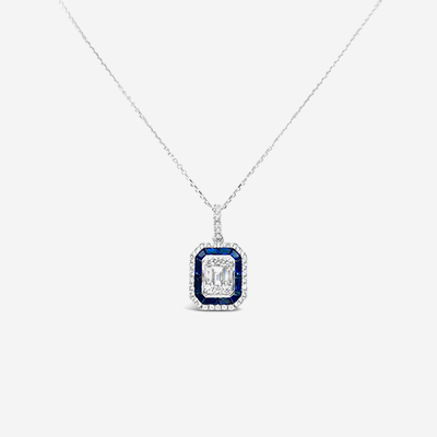 18kt sapphire and diamond pendant