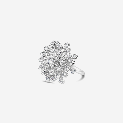 14kt diamond snowflake ring