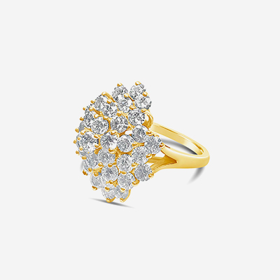 14kt diamond clust ring