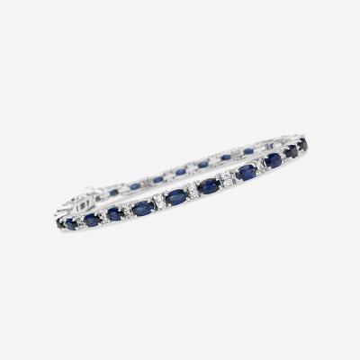 14kt sapphire and diamond bracelet